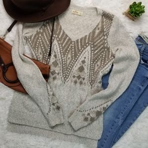 Hollister S Beige Taupe Soft & Cozy Tunic Sweater